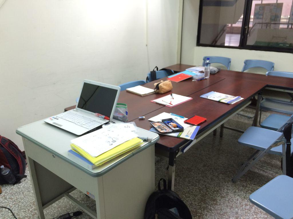 台湾師範大学での僕達の教室