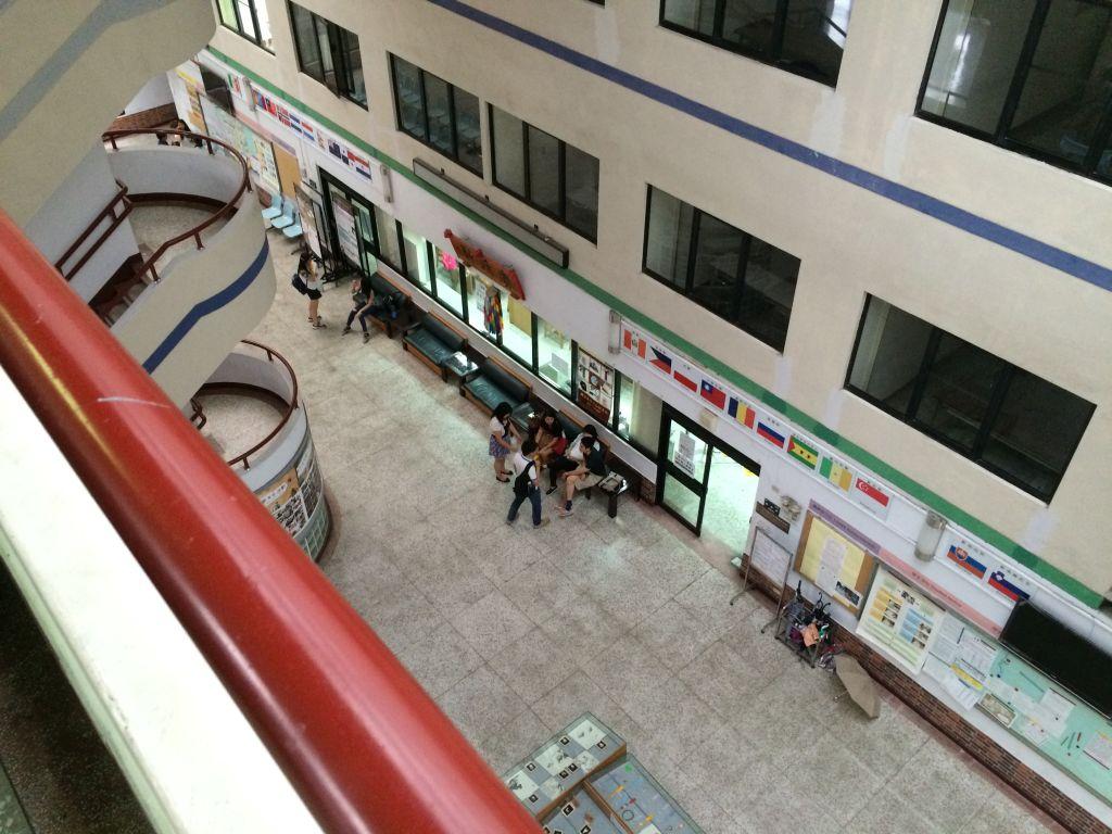 台湾師範大学10階からの眺め