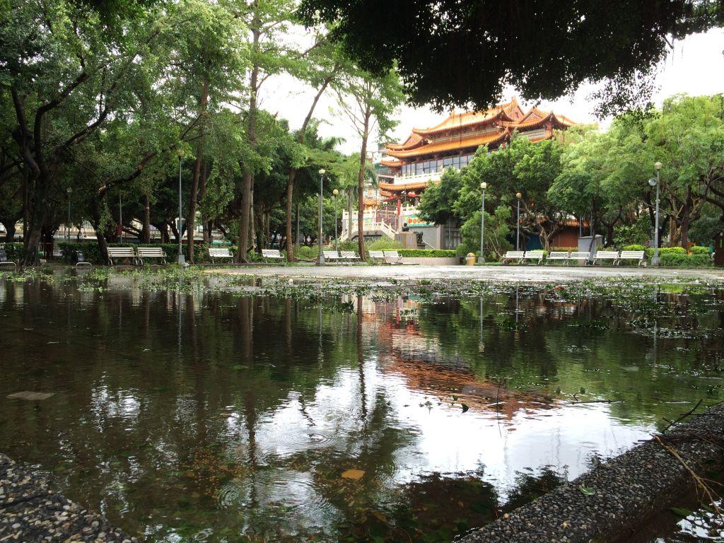 池化した公園