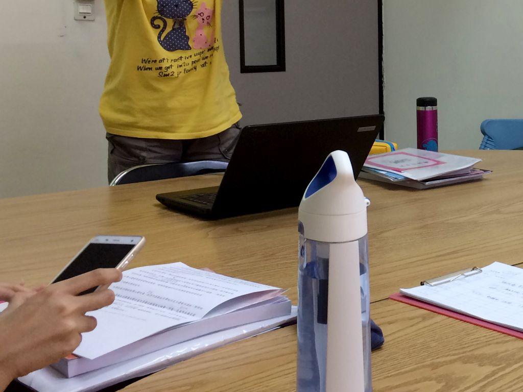台湾師範大学語学センターの教室の様子