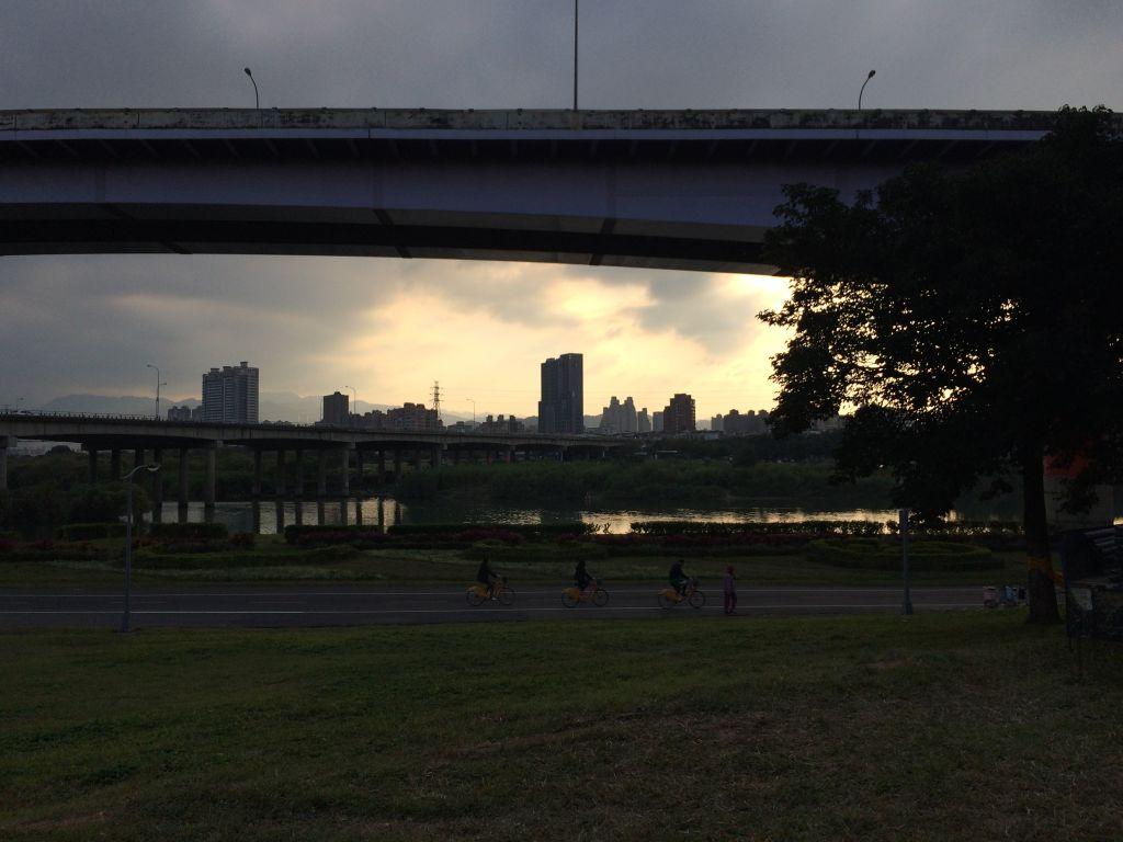 台北の夕暮れ