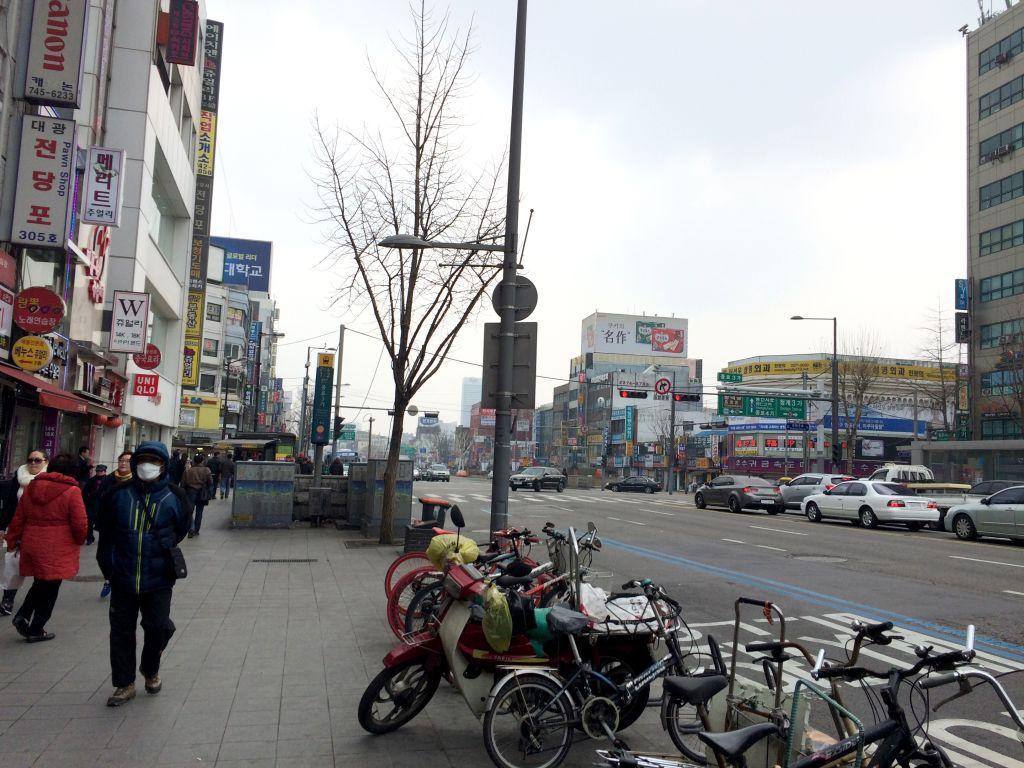 ソウルの朝の街並み