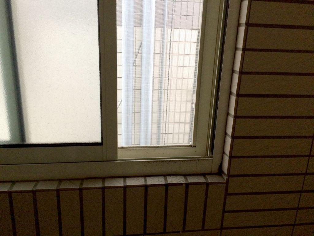 窓を開けると目の前に建物がある
