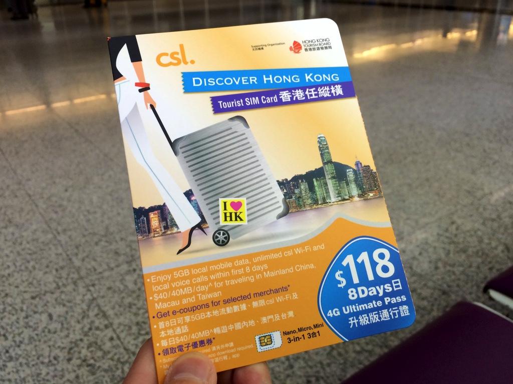 csl Discover Hong Kong Tourist SIM Card