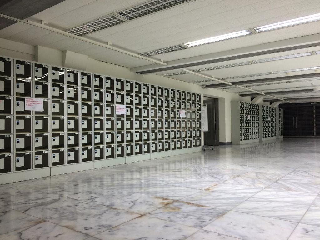 地下1階に設置されたロッカー