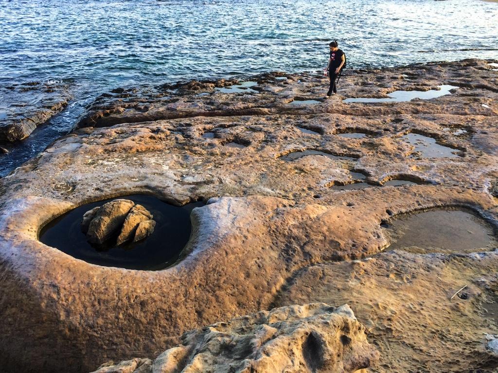 海に面した場所