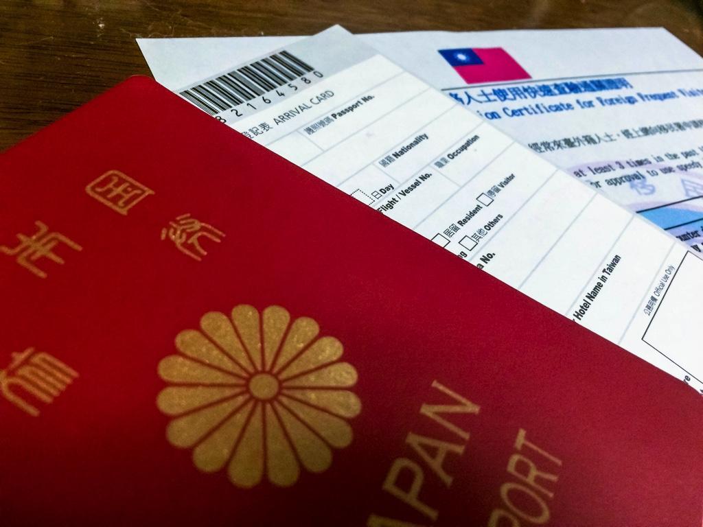 パスポート、入国カード、常客証