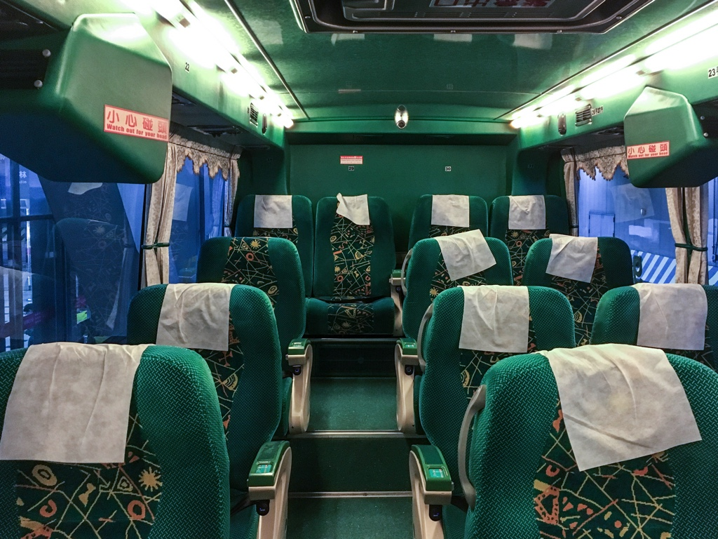 Ubus(統聯客運)のバス車内