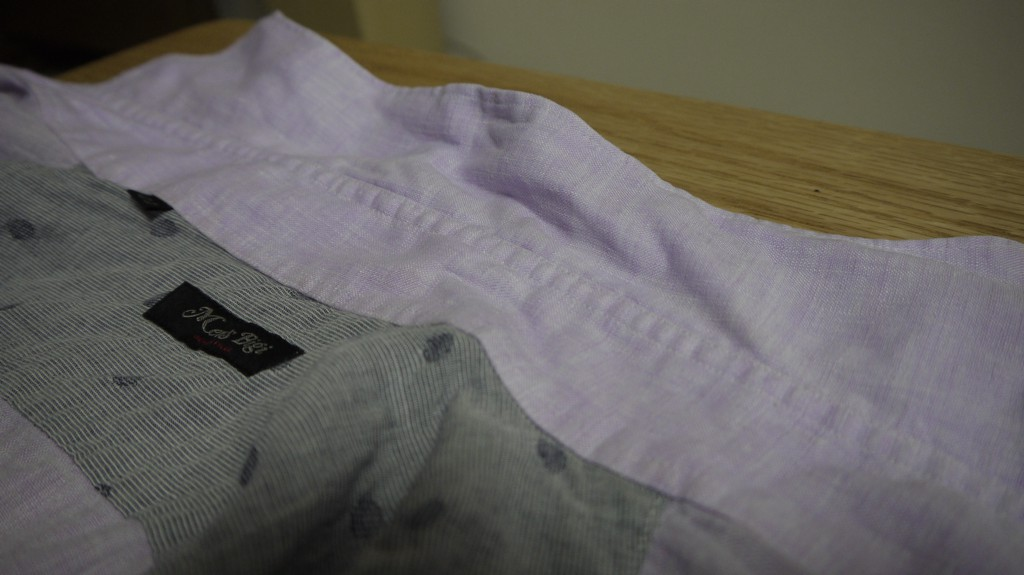 シャツの襟汚れを落とした後