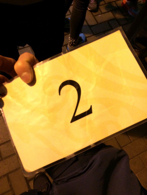 ピークトラム乗り場に渡るときに渡される通行証