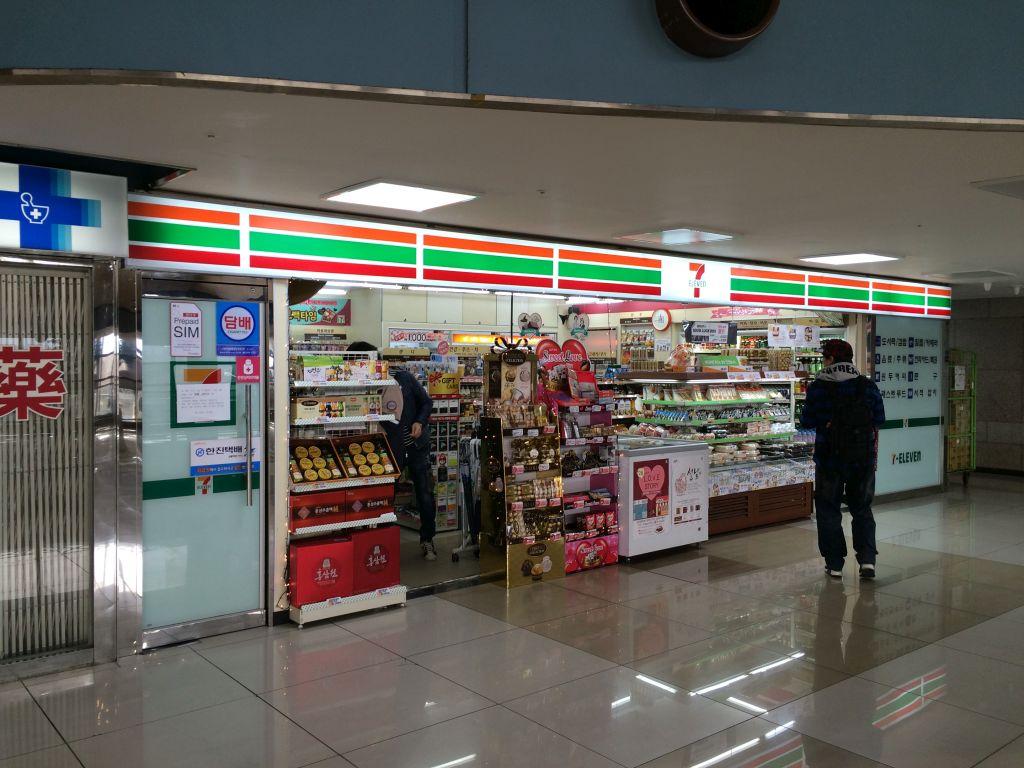 金浦空港のセブンイレブン