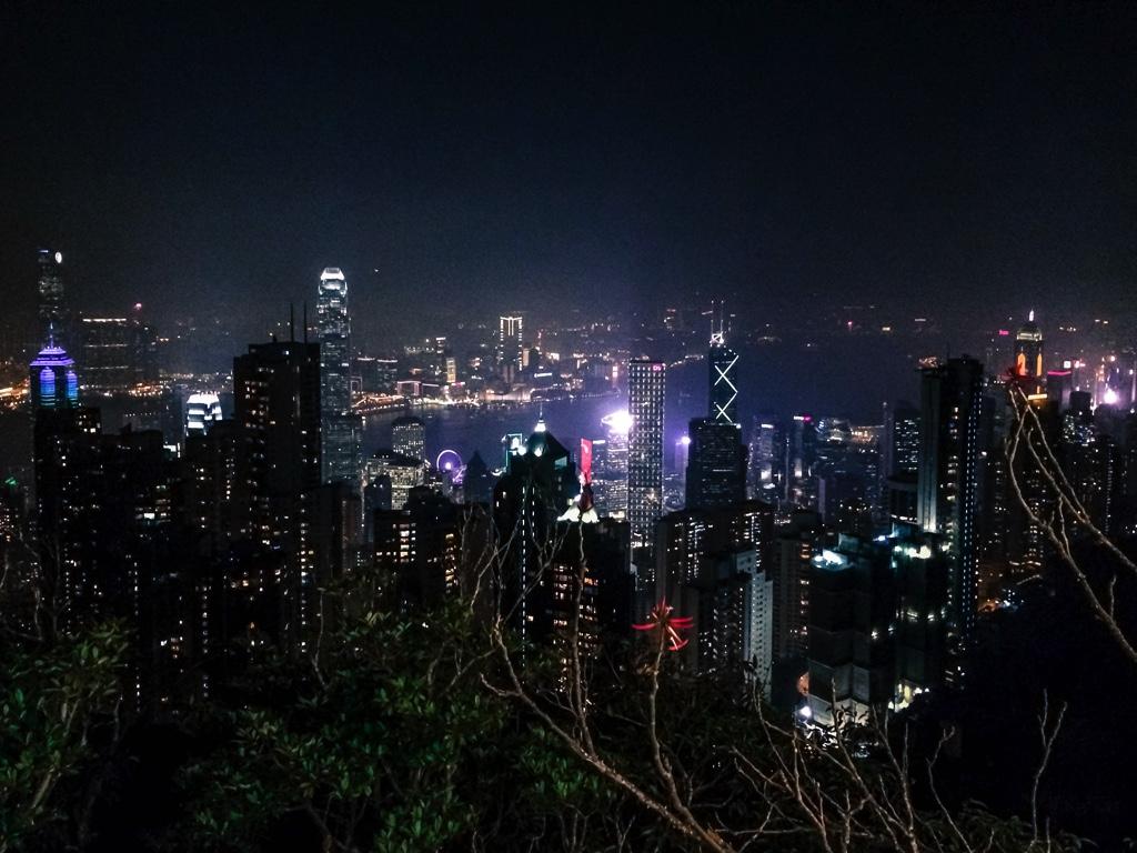 ビクトリアピークから見た香港の夜景