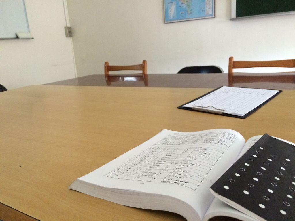 新しいクラスの教室