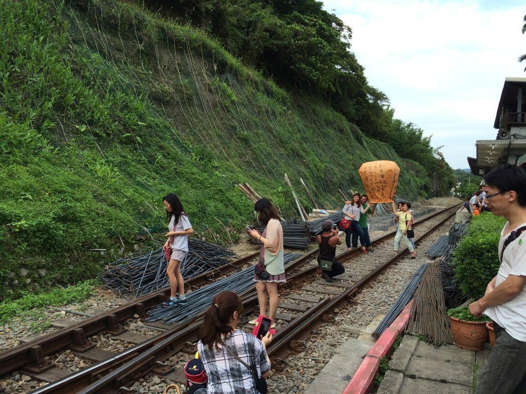 平渓の線路