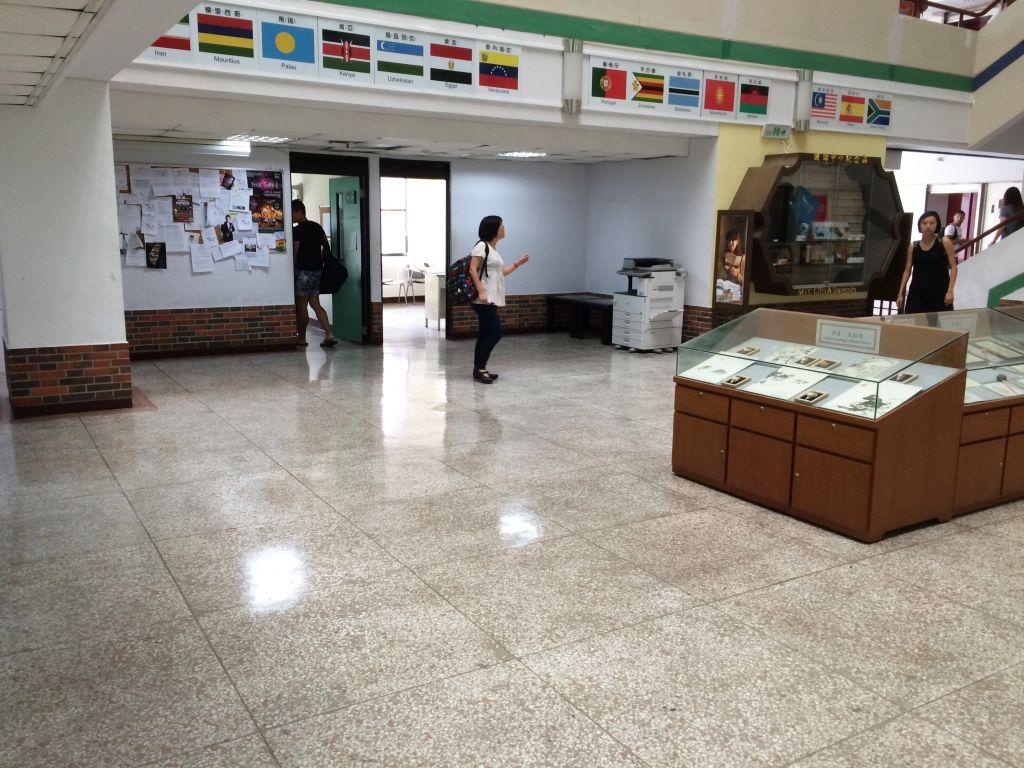 普段の台湾師範大学博愛大樓7階