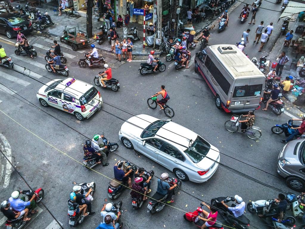 ベトナム・ハノイの道路