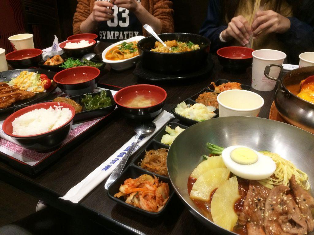 クラスメイト達と韓国料理
