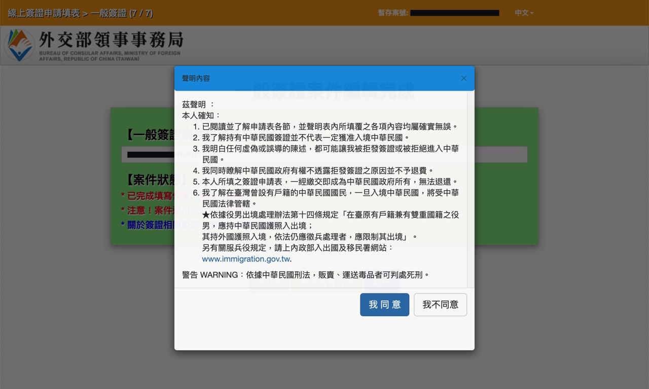 オンラインビザ申請フォーム11