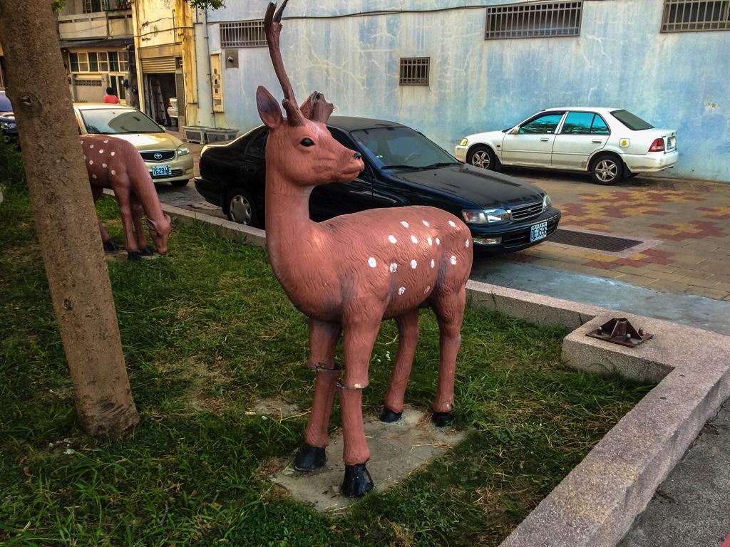 鹿のオブジェ