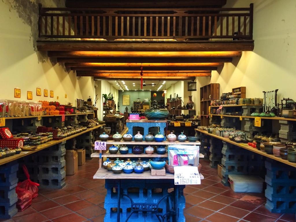陶器のお土産屋