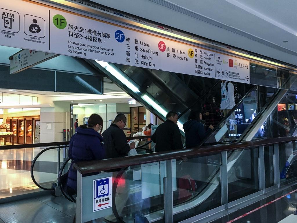 台北轉運站(台北バスターミナル)のフロアガイド