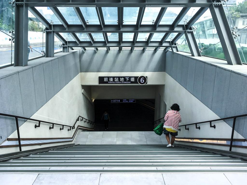 新竹駅と新竹バスターミナルを繋ぐ地下通路