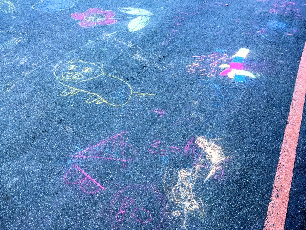 板橋435藝文特區内の落書き可能な道路