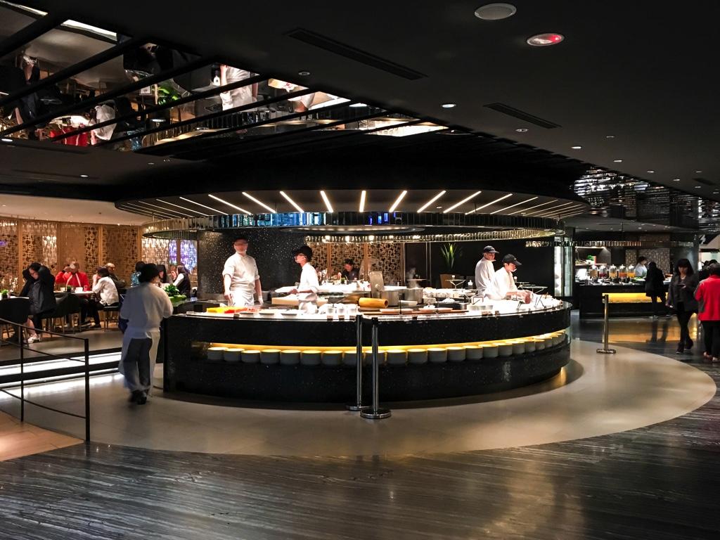 柏麗庁 Brasserieの海鮮エリア