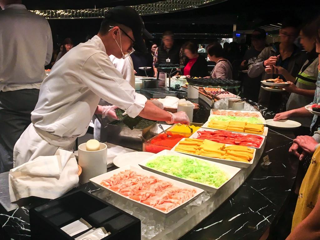 手巻き寿司コーナー