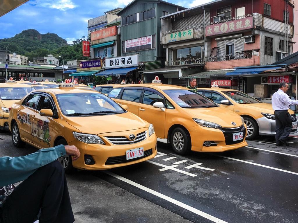 瑞芳駅前のタクシー乗り場