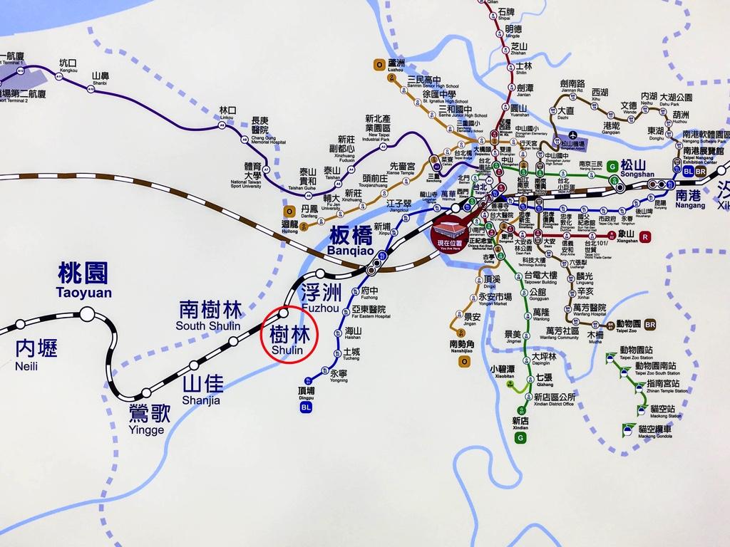 台湾北部の路線図