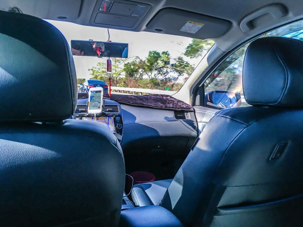 Uberの車内