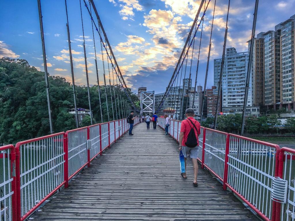 碧潭の吊橋