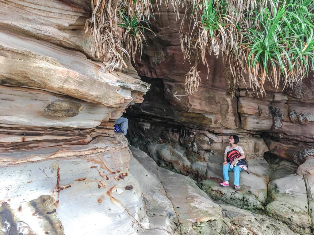 洞窟の入口