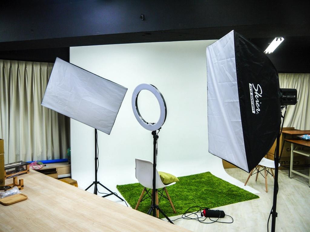 撮影スタジオ内部