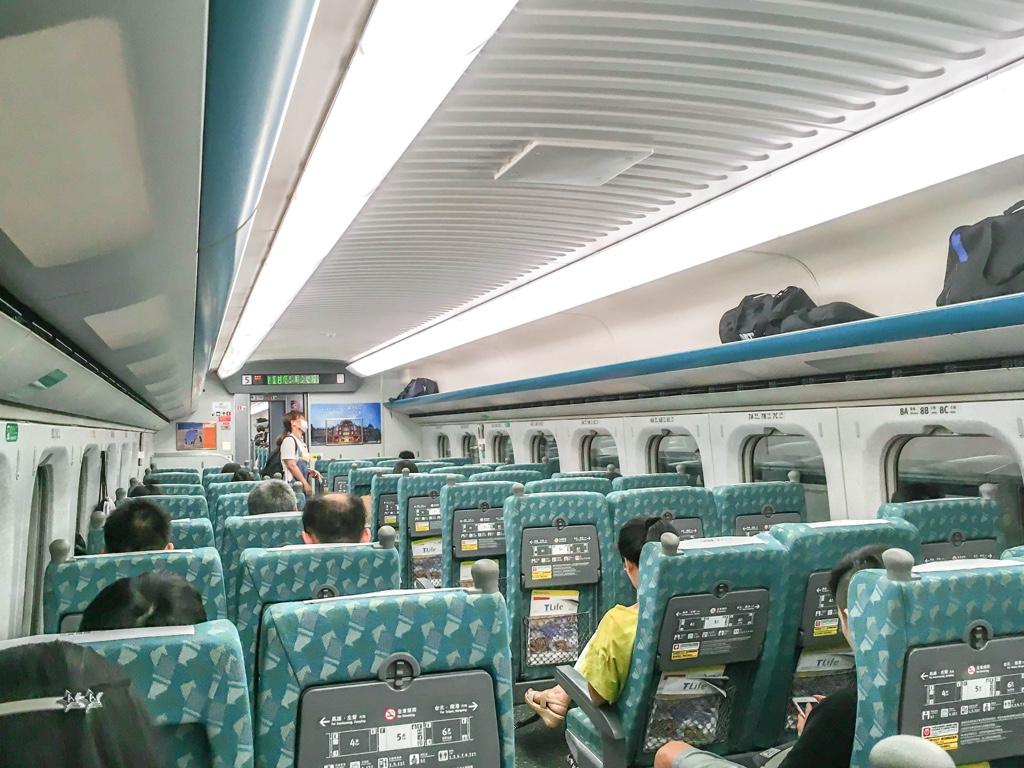 台湾新幹線の車両内
