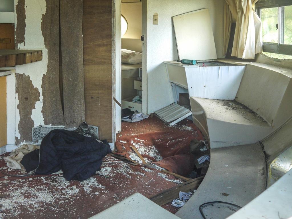 飛碟屋の寝室
