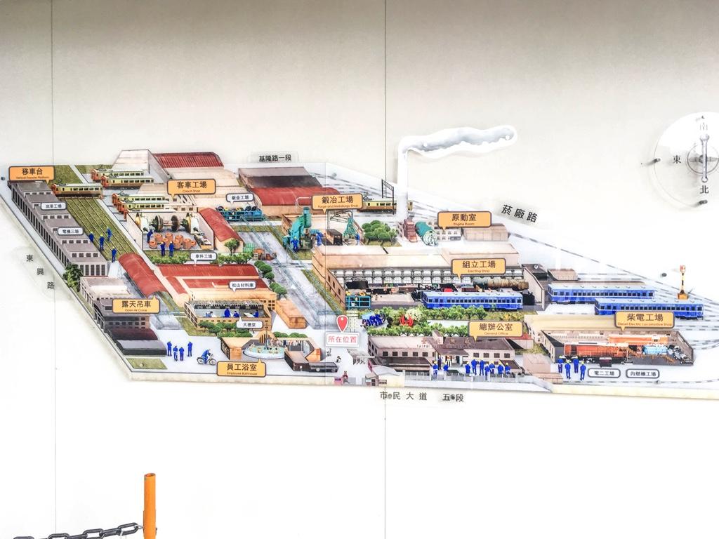 台北鉄道工場のマップ