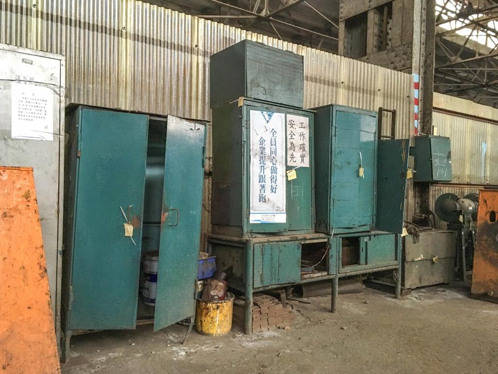 台北鉄道工場の組立工場の物置
