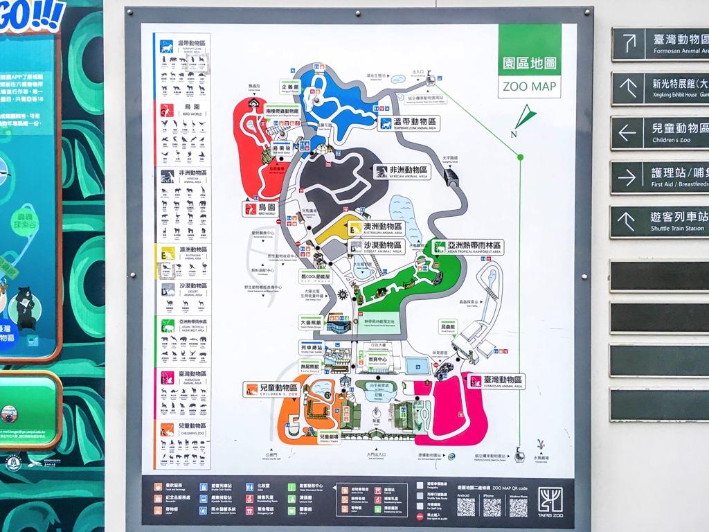 台北市立動物園の園内マップ