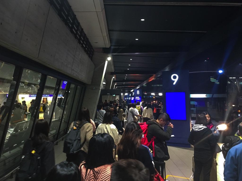 桃園空港第1ターミナルのバス乗り場
