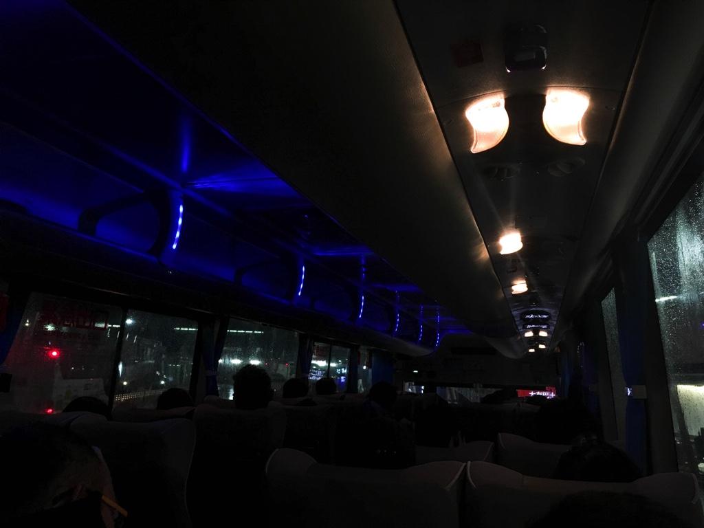大有巴士のバス車内