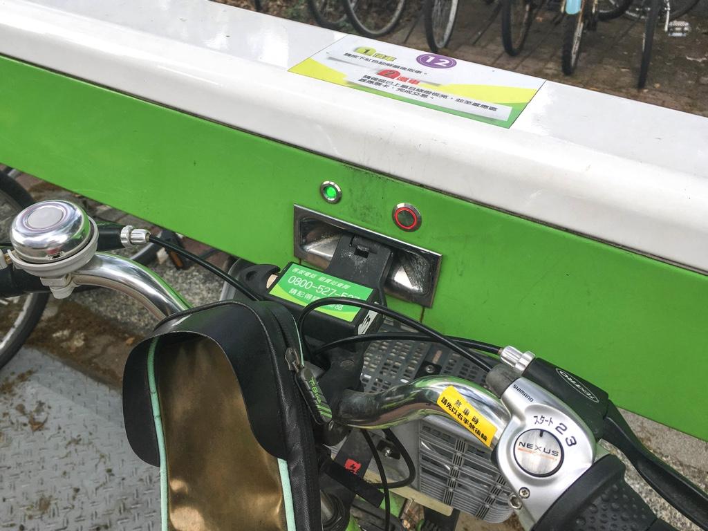 各車体を固定している箇所のランプ