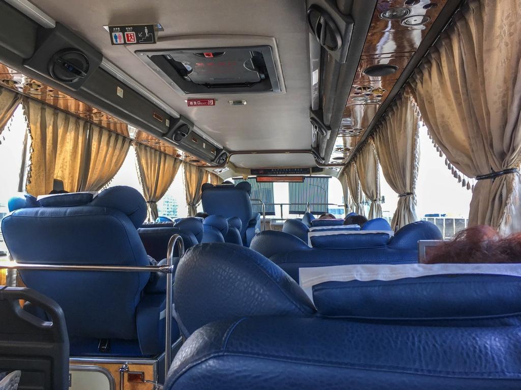 和欣客運のバス車内