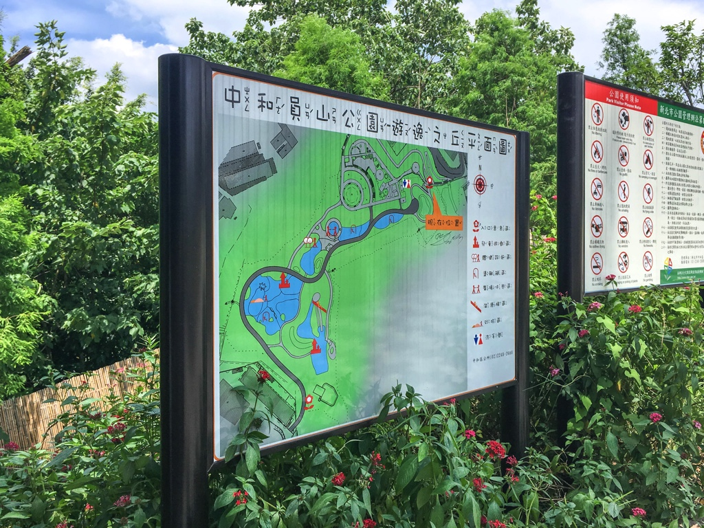 員山公園のマップ