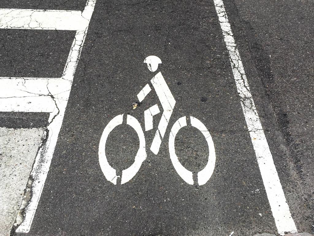 自転車専用道路のピクトグラム