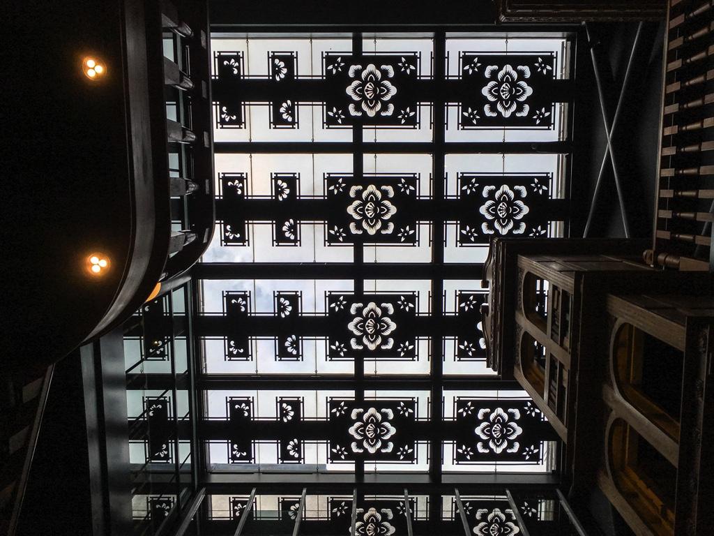 宮原眼科の天井