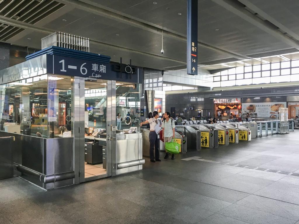 台中新幹線駅の改札