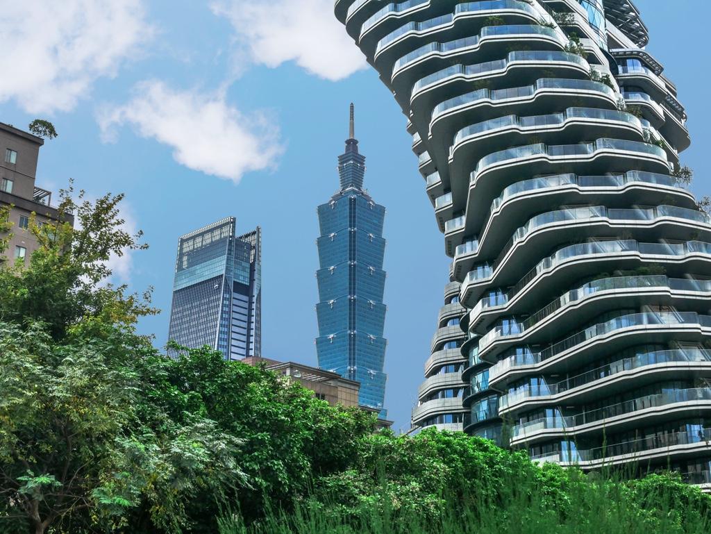 台北101と陶朱隱園