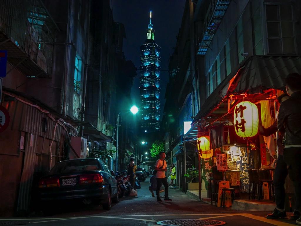 竹村居酒屋前から見た台北101